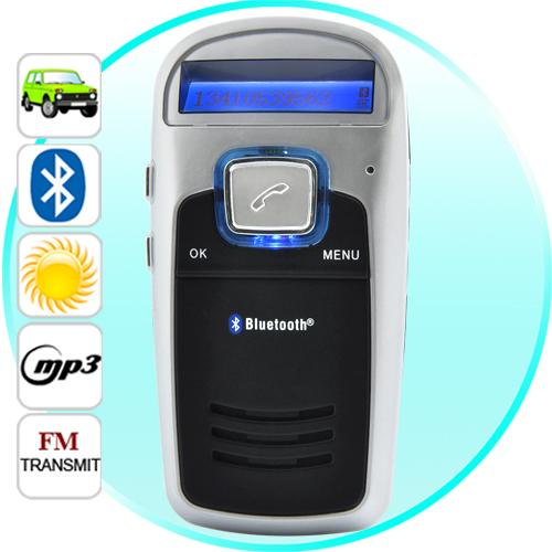 Handsfree Bluetooth Car Kit (Solar Powered)