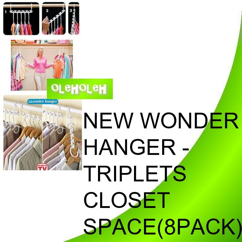 New Wonder Hanger - Triples Closet Space (8pack/set)