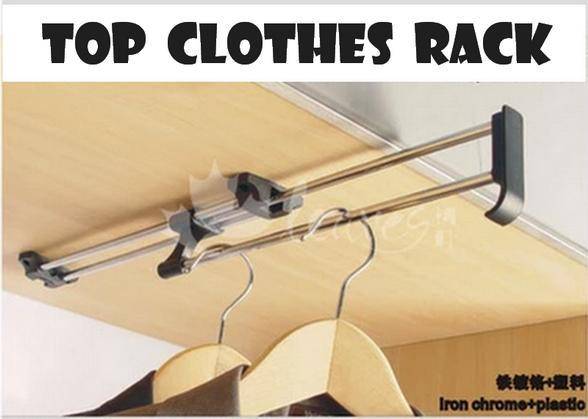 Hanging Top Clothes Rack Telescopic Adjustable Hanging Rack (12 Inch)