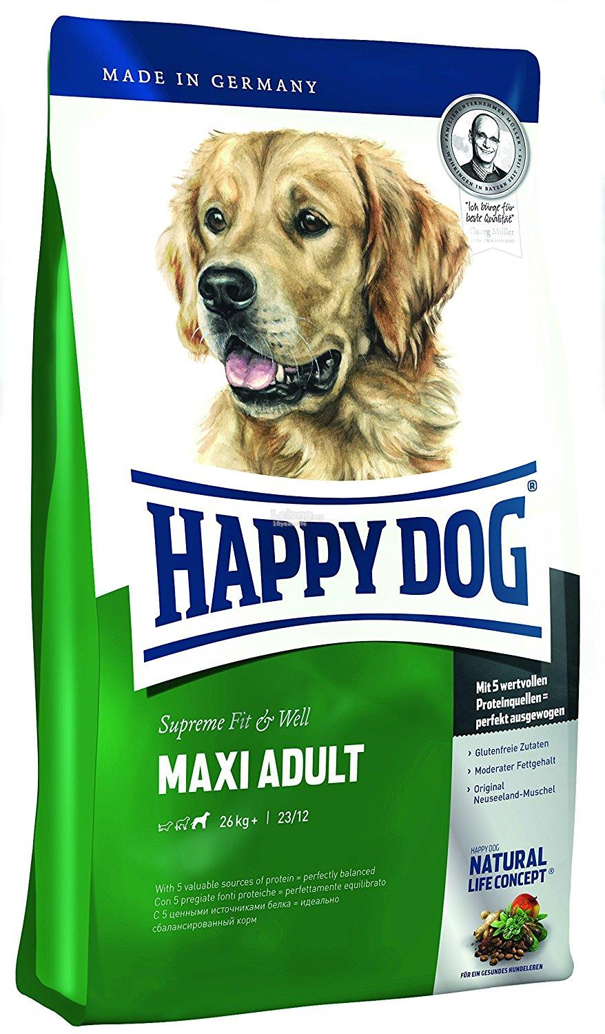 happy dog dry dog food maxi adult 15 end 4 7 2017 10 15 pm. Black Bedroom Furniture Sets. Home Design Ideas