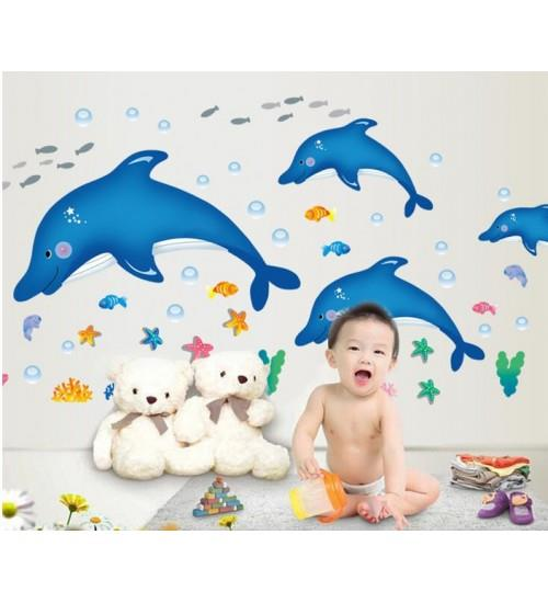 Happy Dolphin -Wall sticker decor kids favo - TY9168