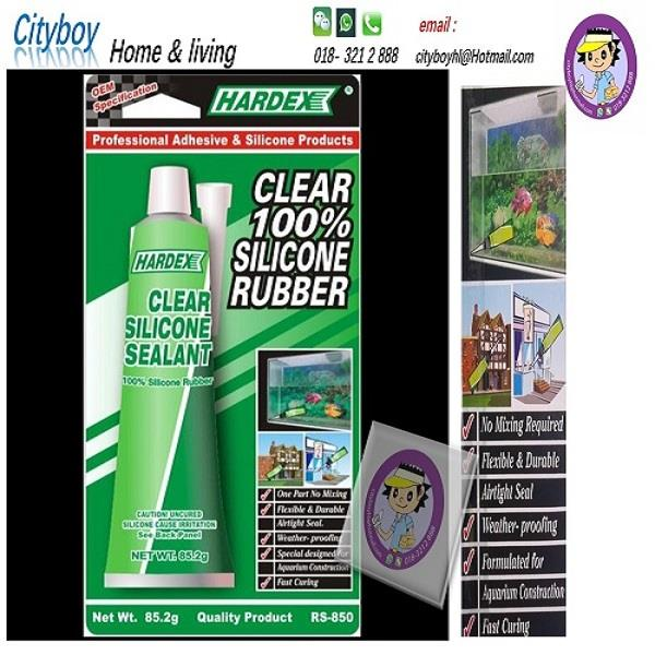 Hardex clear 100% silicone rubber - 85.2g