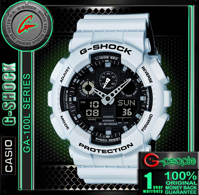 HARGA TERBAEK!!! CASIO G-SHOCK GA-100L-7A WATCH ☑ORIGINAL☑