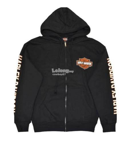 Harley-Davidson Men's Black Zip Hoodie - New