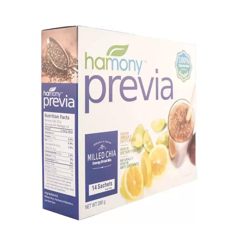 Harmony Previa Organic Milled Chia Seeds with Prebiotic (Premium Seed