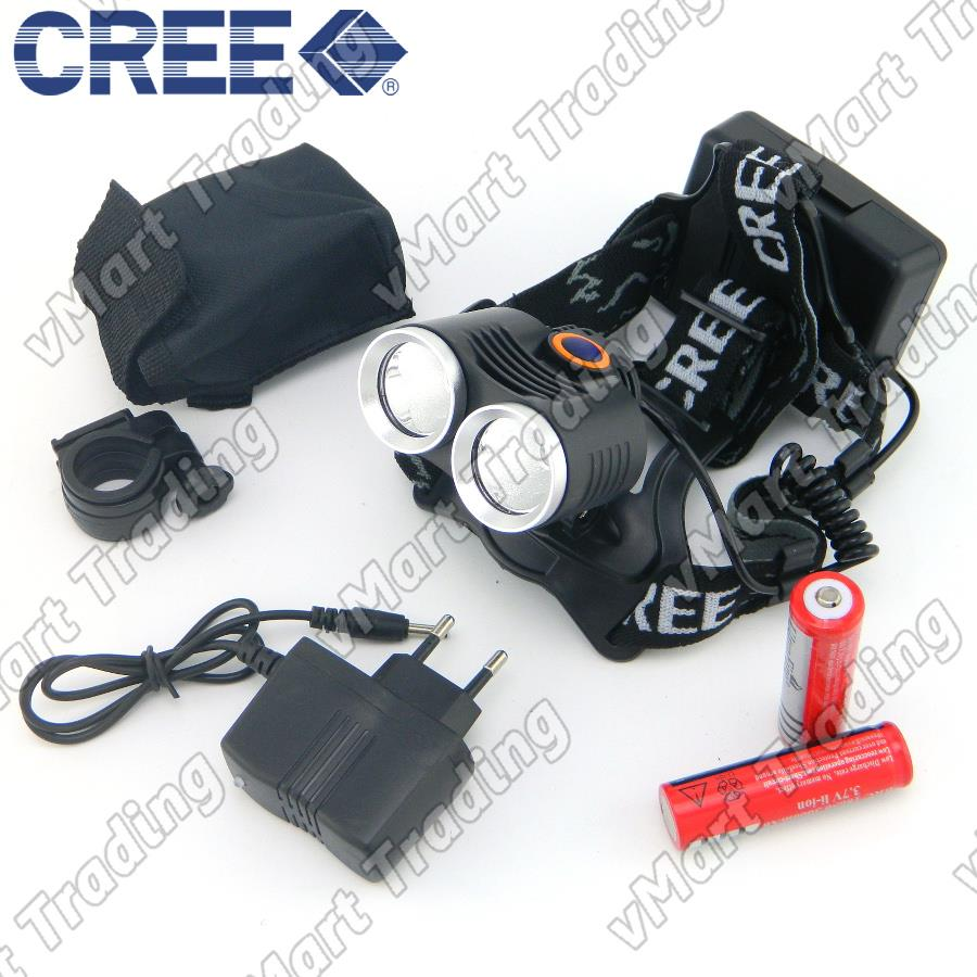 HBL-12T6 CREE XM-L T6x2 2-in-1 LED Headlamp and Bicycle Lamp