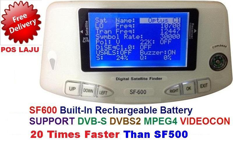 HD SATELLITE FINDER METER SF600 SF-600 DVB-S2 D2H VIDEOCON SF-500