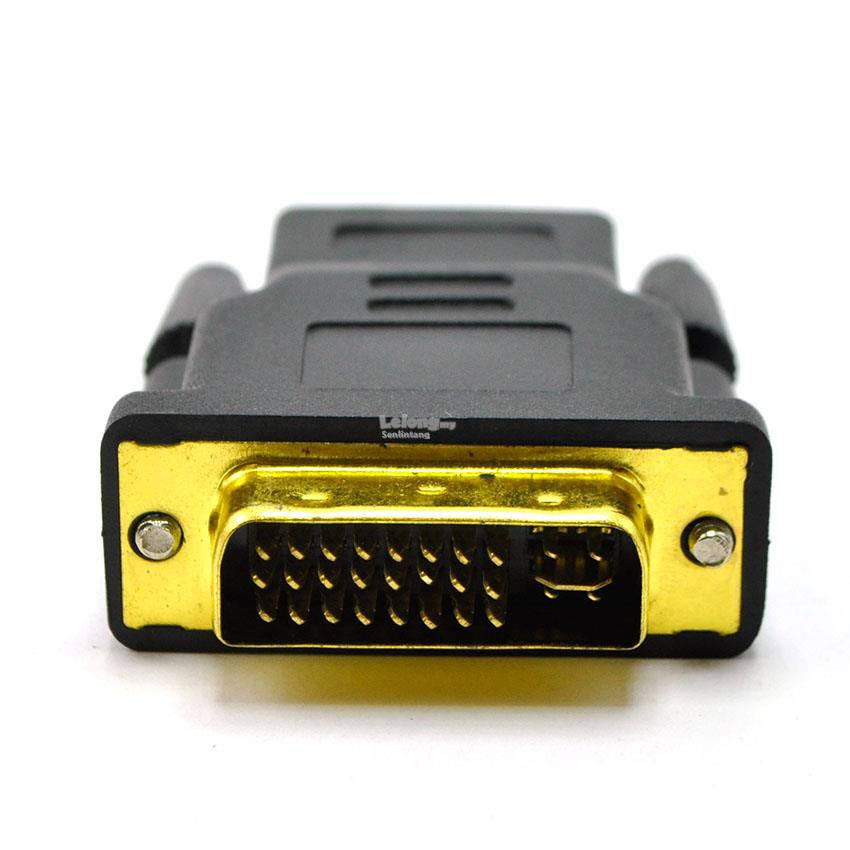 HDMI Female to DVI 24+5 Male Gender Changer Adapter Converter /pc