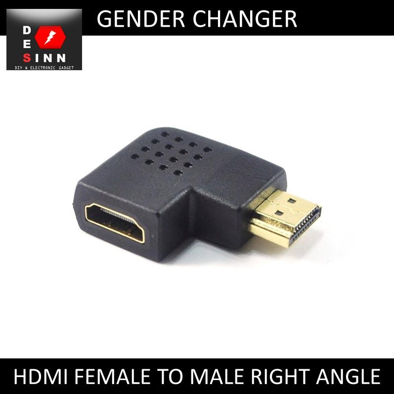 HDMI Female to Male Right Angle 90 Degree Gender Changer Adapter /pc