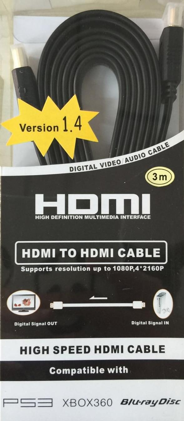 HDMI M TO HDMI M V1.4 FLAT CABLE 3M, 1754