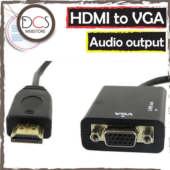 HDMI to VGA (fm) +Audio output with audio cable up to 720p/1080i/1080p