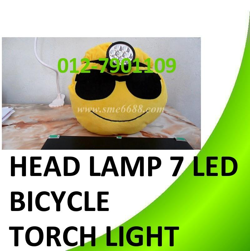 Head Lamp 7 LED Bicycle Torch Light Reading Camping