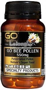GO HEALTHY Bee Pollen 550mg Direct From New Zealand (60/180 softgel)