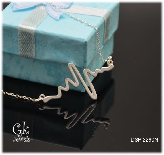 Heartbeat silver necklace DSP 2290N (include Chain)