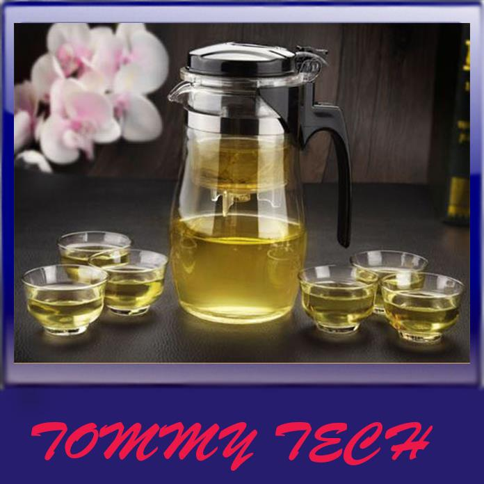 Heat-resistant glass teapot tea kettle filter liner Kung Fu Tea Set