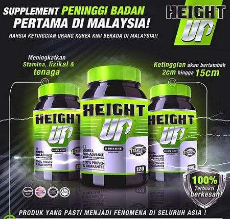 HEIGHT UP: Growth Height Supplement utk Tinggi (Free Postage!!)
