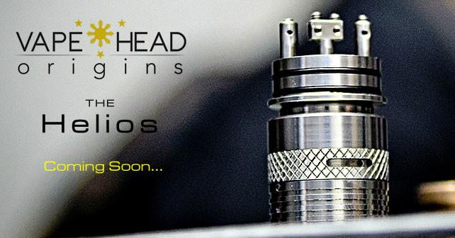 Helios Dripping Rebuildable Atomizer by Vapehead Origins Quad Terminal