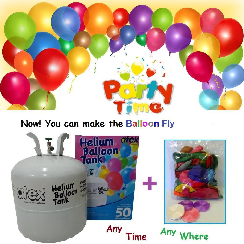 Helium Gas Balloon Gas Package RM195 (With 40 Balloons & 40 Ribbons)