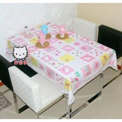 HELLO KITTY 100% NATURAL FULL COTTON TABLE COVER 160CM X 160CM