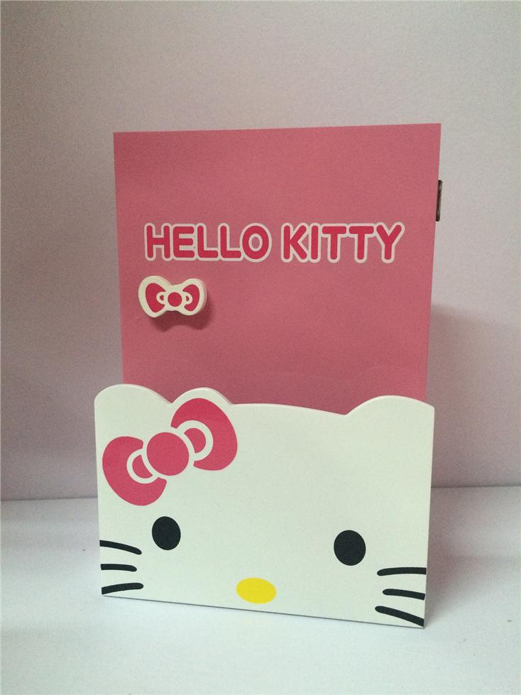 Hello Kitty 100% Wooden Jewelry Key Keychain Hanger Organiser Box