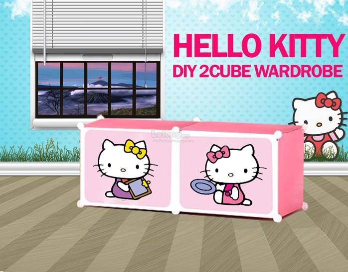 Hello Kitty 2 Cube Storage Rack