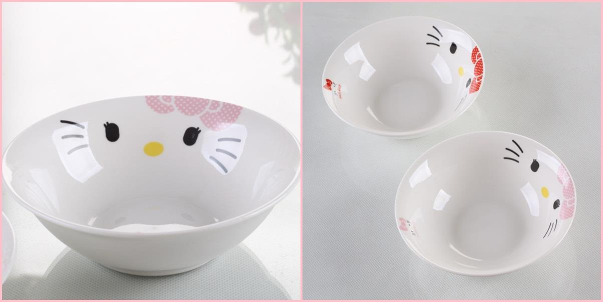 Hello Kitty Ceramic Mee Bowl (Pink)