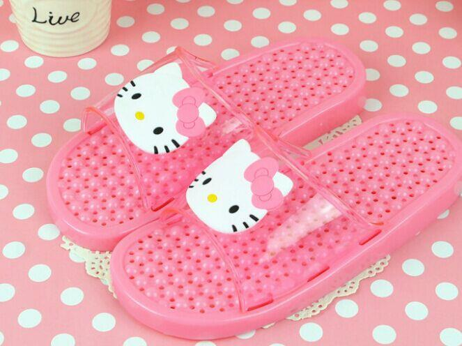 HELLO KITTY Children's Bathroom Massage Slipper (PINK)