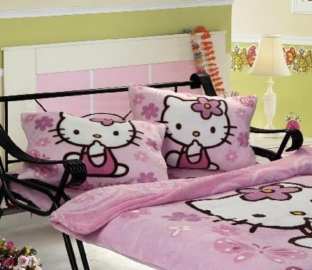 HELLO KITTY CORAL FLEECE PILLOW COVER 1 (2 PCS)