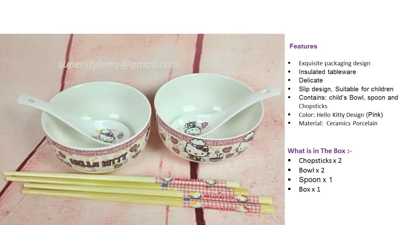 Hello Kitty Cute Ceramics Porcelain Tableware sets (SSZL2000 )