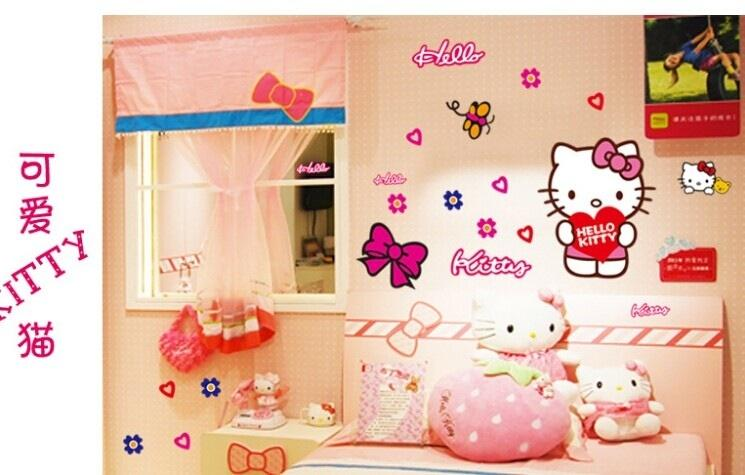Hello Kitty Cute PVC Sticker - 1 set only (Not 2 sides)