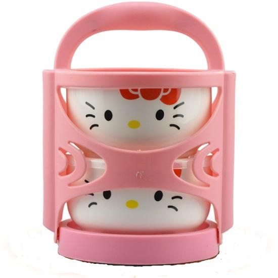 Hello Kitty High Quality Ceramic Microwavable 2 in 1 Food Container