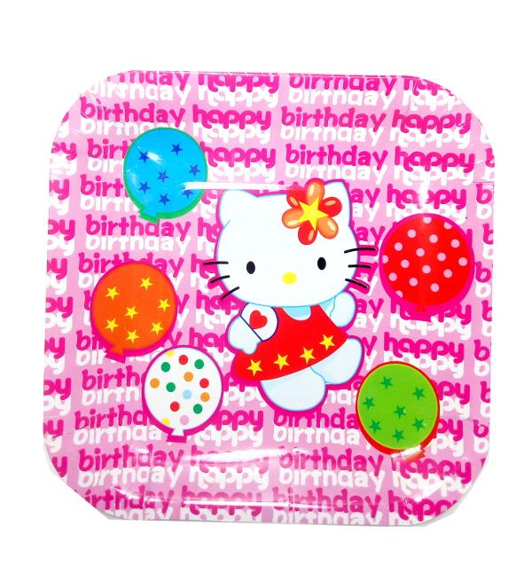 Hello Kitty Party Plates (Disposable Plates) 10s
