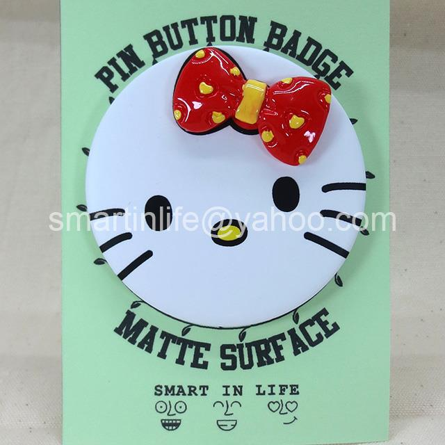 Hello Kitty Pop Up Ribbon Pin Button Badge �58mm