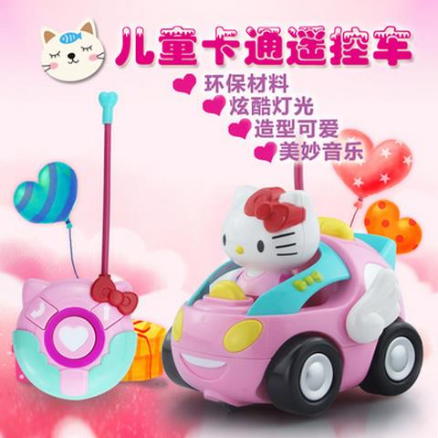 HELLO KITTY REMOTE CONTROL CAR WITH BEAUTIFUL MELODY