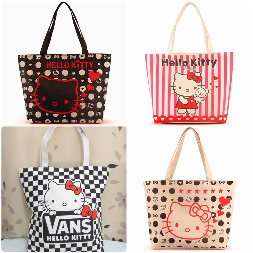 These look great with a complete Hello Kitty outfit but also coordinate well with blue jeans, pants, skirts and dresses. Both women and girls can enjoy a great selection of Hello Kitty purses. Purse styles featured include hobo bags, tote bags, backpacks and more.