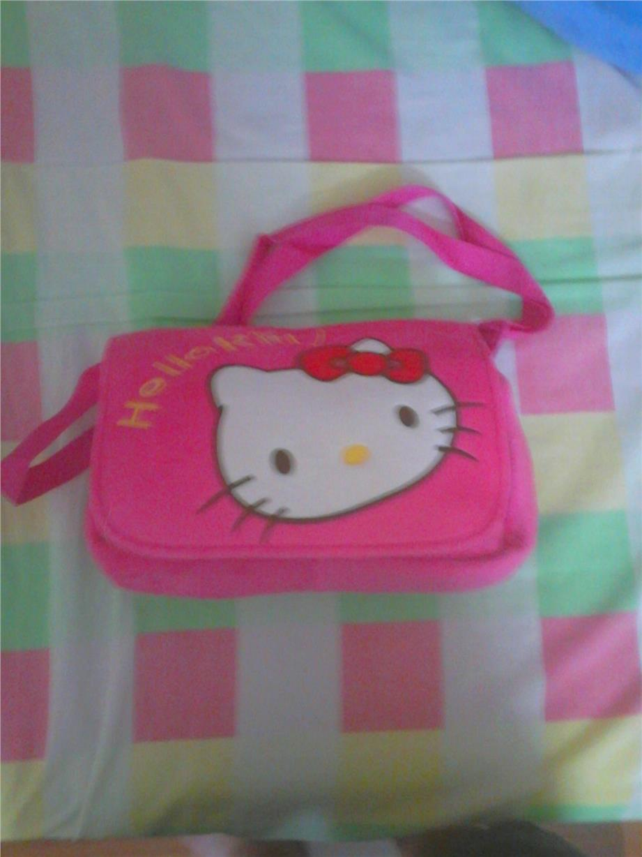 hello kitty sling bag dark pink 23cm wide x 33cm high