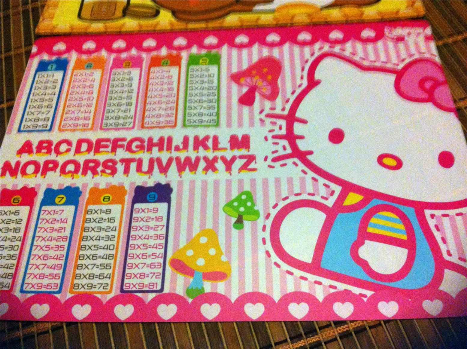 Hello Kitty Table Mat With Ab End 7 12 2015 9 15 Am Myt