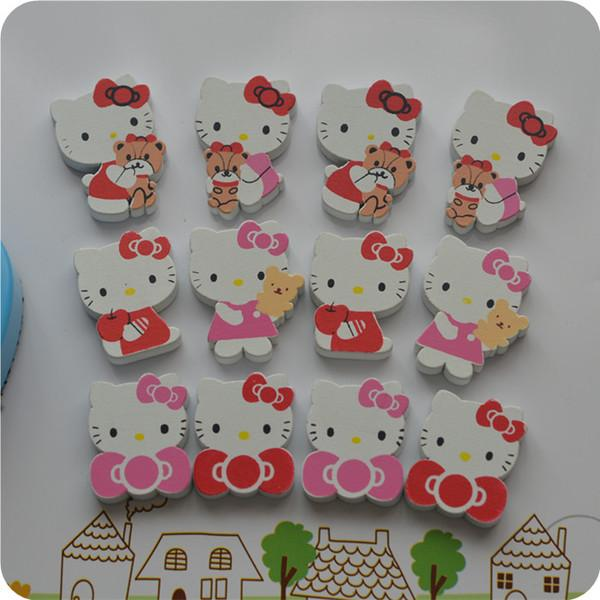 Hello Kitty Wooden 4 Pcs Fridge Magnet