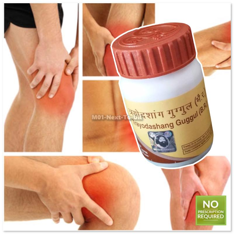 Herbal Natural Divya Trayodashang Guggul Joint pains related disorders
