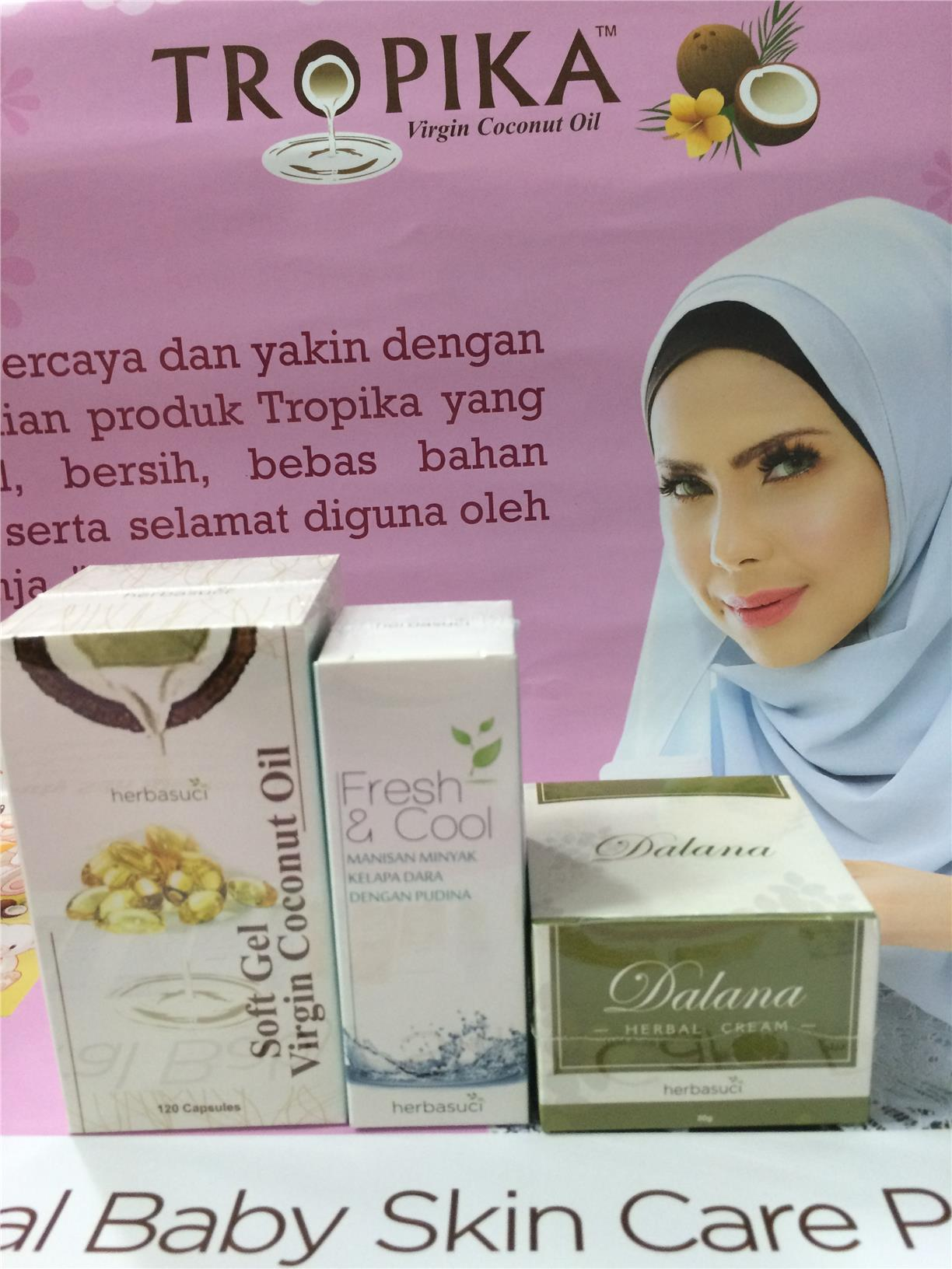 Herbasuci Set - Soft Gel/Dalana Herbal Cream/Fresh & Cool