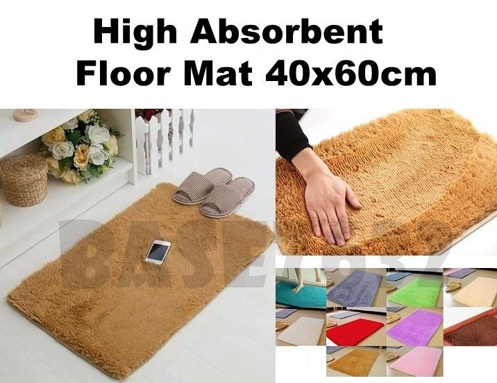 High  Absorbent Memory Foam Floor Mat Rug Carpet 40x60cm 2.5cm Thick