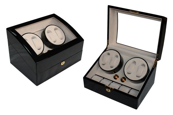 High Gloss Wooden Watch Winder 4+5