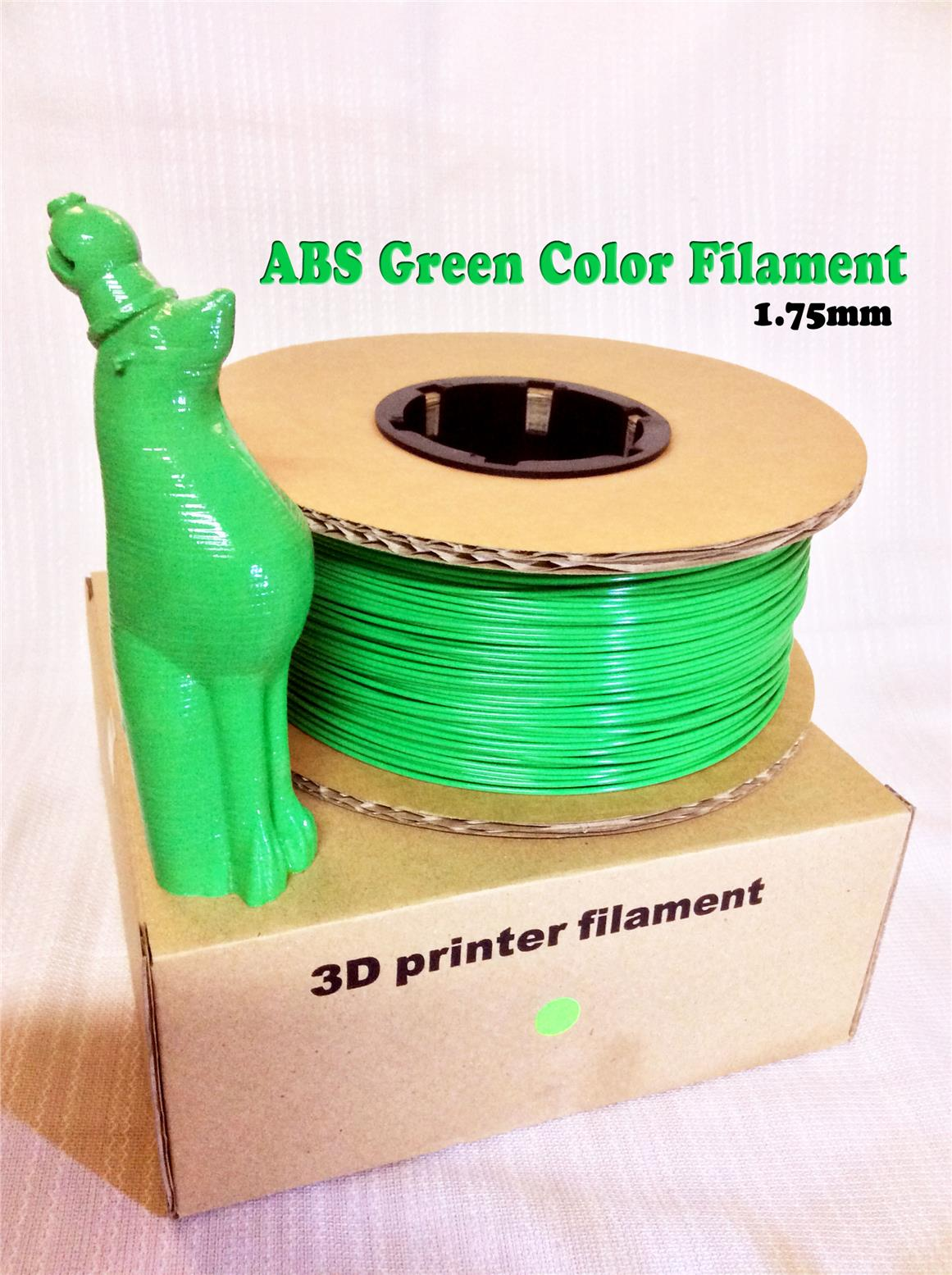High Grade 3D Printer ABS Filament 1.75mm (Green)