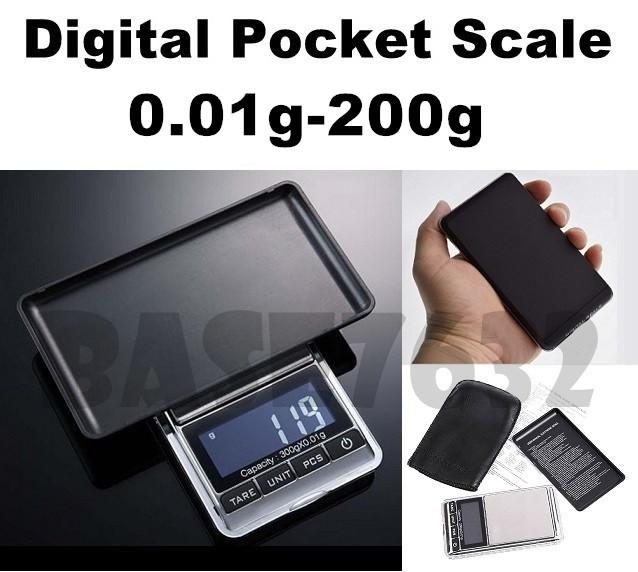 High Precision 0.01g -  200g Digital Pocket  Jewelry Weighing Scale