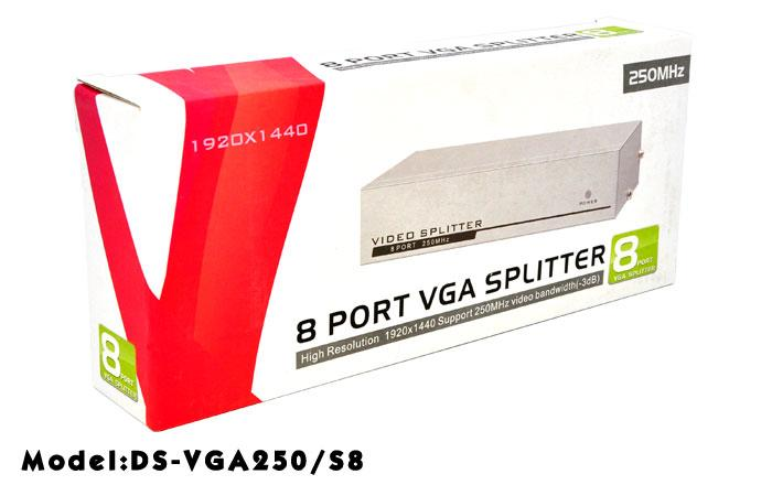 HIGH QUALITY 1 TO 8 PORT VGA SPLITTER W/ 250MHZ BOOSTER (VGA250/S8)