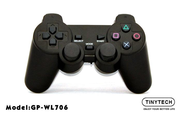 HIGH QUALITY 2.4GHZ WIRELESS DOUBLE SHOCK VIBRATE GAMEPAD (WL706)