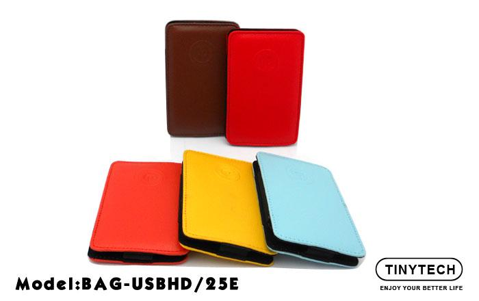 HIGH QUALITY 2.5' HDD CASE CARRYING SLOT-IN LEATHER POUCH (USBHD/25E)