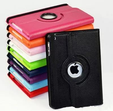 High Quality 360 Degree Rotating Stand Leather Case For iPadAir2/ipad6