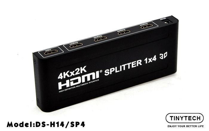 HIGH QUALITY 4K X 2K 3D HDMI 1 IN TO 4 OUTPUT SPLITTER V1.4 (H14/SP4)