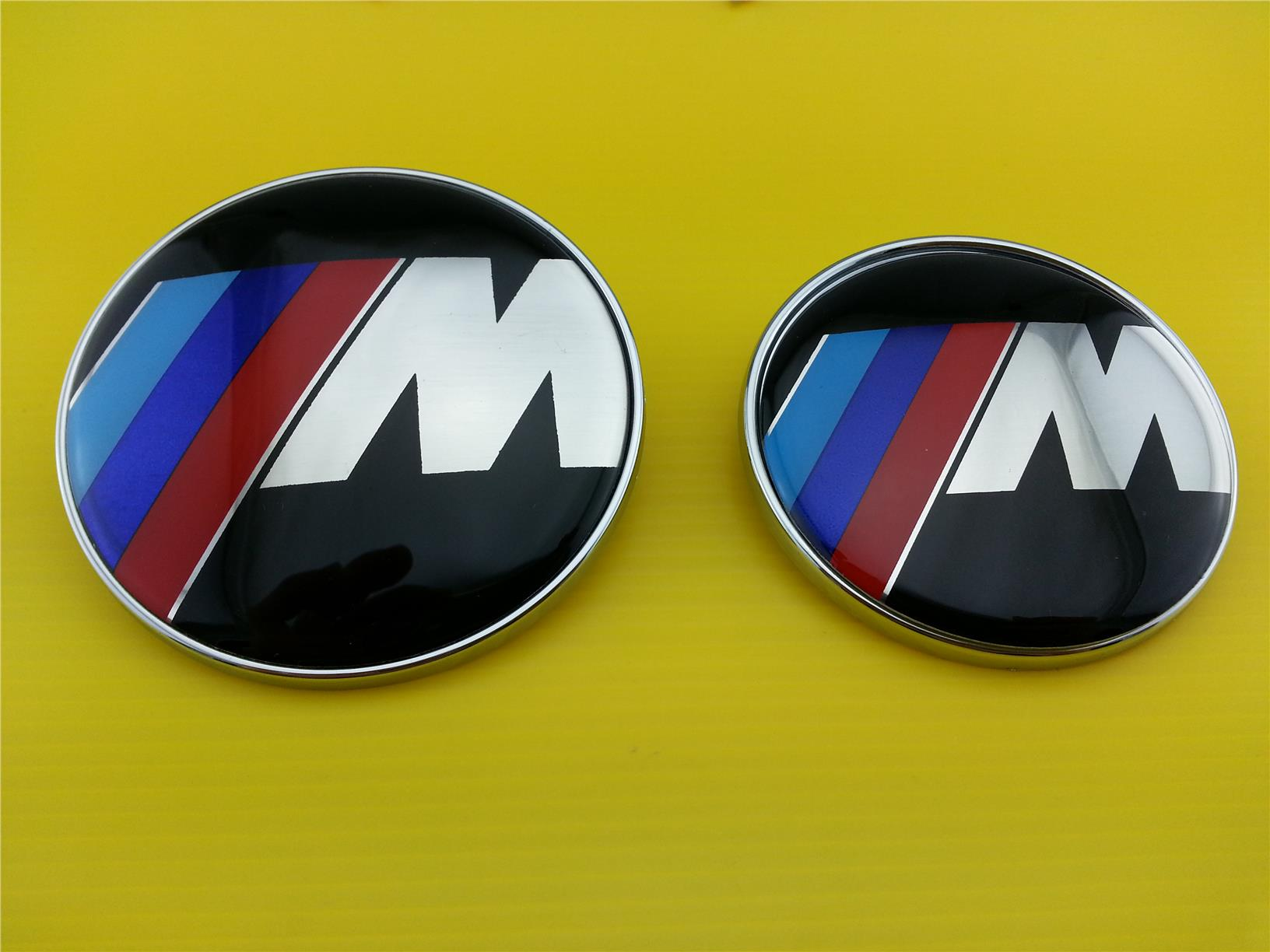 HIGH QUALITY BMW M SPORT LOGO FRONT OR REAR SIZE 73MM & 82MM (2 Pins)